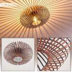 Lámpara de techo Oravi en metal color cobre