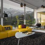 alfombra de techo de salón y comedor
