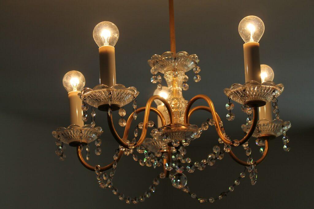 crystal-chandelier-lampara de techo de araña