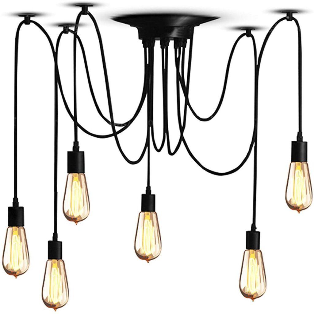 lampara de araña moderna industrial