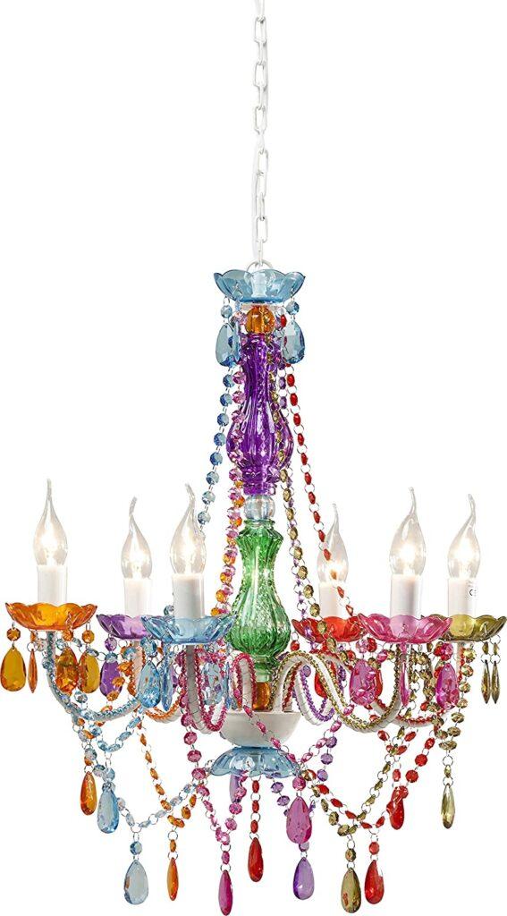 lampara de techo de araña colorines