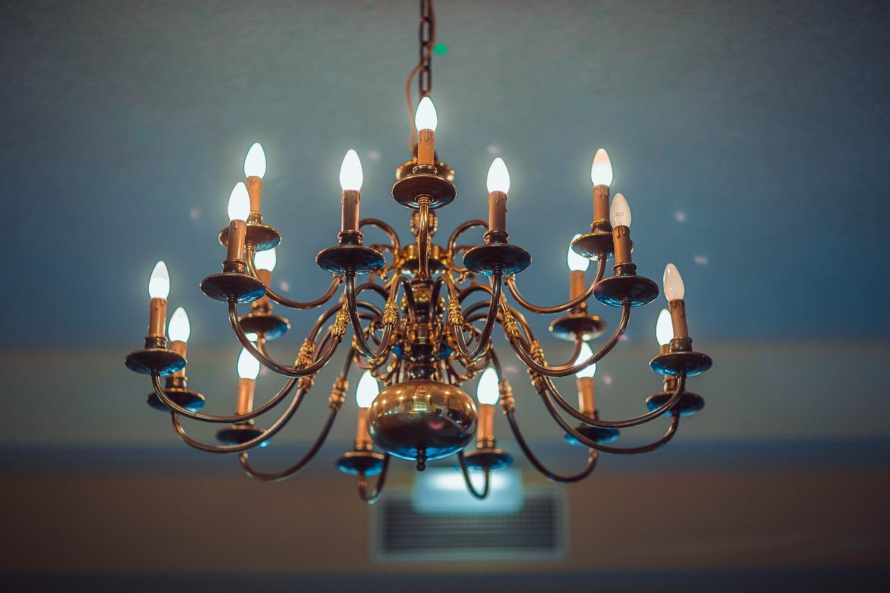 lampara de techo de araña