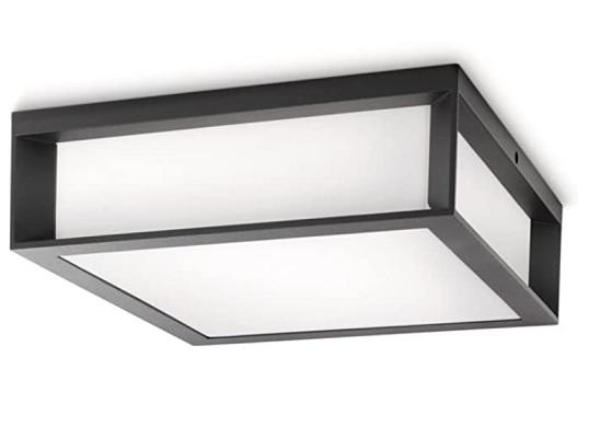 Philips Lighting Aplique plafón exterior, 14 W, IP44, color antracita [Clase de eficiencia energética A]